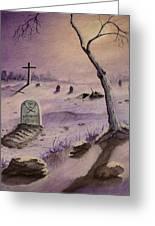 A  Grave Yard Greeting Card
