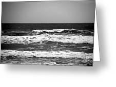 A Gray November Day At The Beach - II  Greeting Card