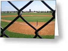 A Great Day For Tball #sports #diamond Greeting Card by Kel Hill