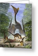 A Group Of Balaur Bondoc Dinosaurs Greeting Card