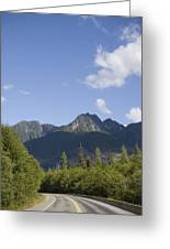 A Highway Winds Through The Mountains Greeting Card by Taylor S. Kennedy