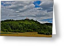 A House On A Hill Greeting Card