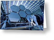 A James Webb Space Telescope Array Greeting Card