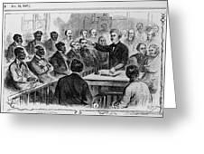 A Jury Of Whites And Blacks Greeting Card