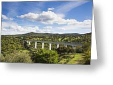 A Large Highway Bridge An Elevated Greeting Card by Don Mason