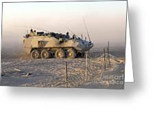 A Lav IIi Infantry Fighting Vehicle Greeting Card