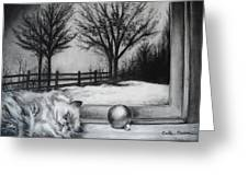 A Lazy Winter Day Greeting Card