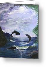 A Leap Of Faith Greeting Card by Judy M Watts-Rohanna