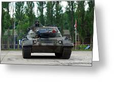 A Leopard 1a5 Mbt Of The Belgian Army Greeting Card by Luc De Jaeger