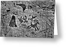 A Library Of Petroglyphs - Atlatl Rock Greeting Card