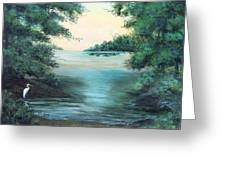 A Lone Egret Greeting Card