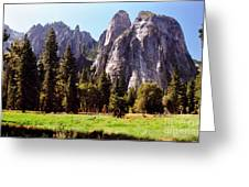 A Look Across The Meadow  Greeting Card