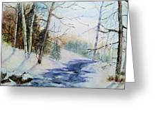 A Lovely Winter's Day Greeting Card