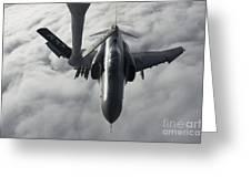 A Luftwaffe F-4f Phantom II Approaches Greeting Card