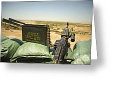 A M240b Medium Machine Gun Greeting Card