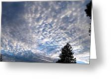 A Mackerel Sky Greeting Card