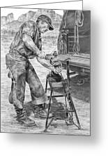 A Man And His Trade - Farrier Art Print Greeting Card