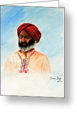 A Man From Rajsthan Greeting Card by Tanmay Singh