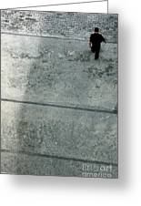 A Man Walked Visible From Above Greeting Card
