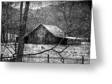 A Memory In Black And White Greeting Card