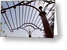 A Metal Structure That Is Part Of The Lamp Shade Arrangement In A Garden Greeting Card