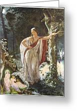 A Midsummer Night's Dream Hermia And The Fairies Greeting Card