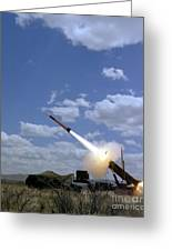 A Mim-104 Patriot Anti-aircraft Missile Greeting Card