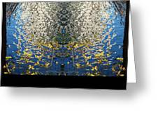 A Mirror Image Of Sparkling Water Reflection Greeting Card