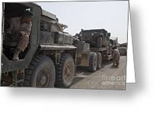 A Mk48 Logistics Vehicle System Greeting Card