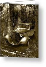 A More Elegant Time In Sepia Greeting Card
