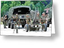 A Mortar Section Of The Belgian Army Greeting Card