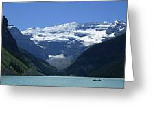A Mountain Range With A Lake In The Greeting Card