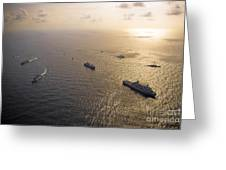 A Multi-national Naval Force Navigates Greeting Card