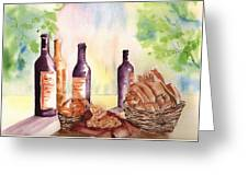 A Nice Bread And Wine Selection Greeting Card by Sharon Mick