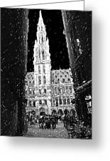 A Night On The Grand Place Greeting Card