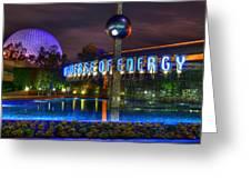 A Night Shot At Epcot Greeting Card