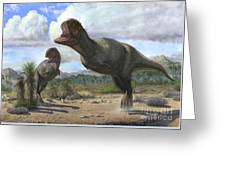 A Pair Of Pycnonemosaurus Nevesi Greeting Card