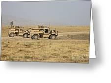 A Pair Of U.s. Army Cougar Mrap Greeting Card