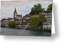 A Panorama View Of Zurich Greeting Card
