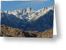 A Panoramic View Of Mount Whitney Greeting Card