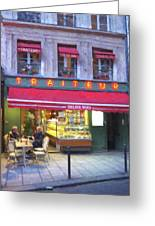 A Paris Bistro Greeting Card