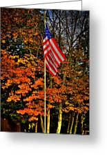 A Patriotic Autumn Greeting Card