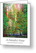 A Peaceful Place Poster Greeting Card