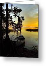A Peaceful Sunset Greeting Card