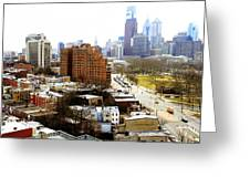 A Philadelphian View Two Greeting Card