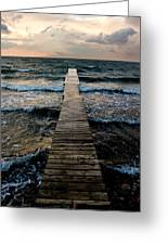 A Pier In The Water Greeting Card