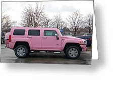 A Pink Hummer Greeting Card