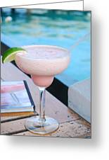 A Pink Sand Margarita Greeting Card by Hibberd, Shannon