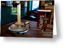 A Pint Of Henry's Greeting Card