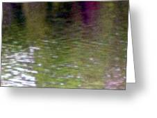 A Pond Reflection - Water Greeting Card